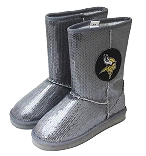 f4be0066cd8 Amazon.com   Minnesota Vikings NFL Womens High End Seuined Boots ...