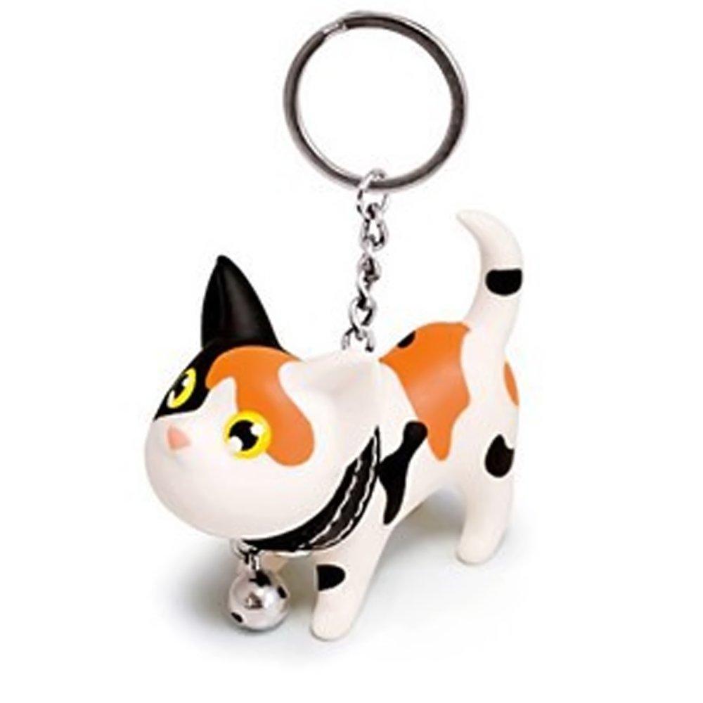Vococal reg; clés Vinyl Cat Doll pendentif métal acier inoxydable porte-clés porte clef jaune