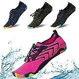 KRIMUS Men Women Water Sports Shoes Quick Dry Barefoot Aqua Socks Swim Shoes for Pool Beach Walking Running (Rose Red-40)