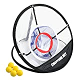 Topjack Portable Golf Training Chipping Net + 5 Yellow Balls Sport Set Hitting Aid Practice In/Outdoor Bag