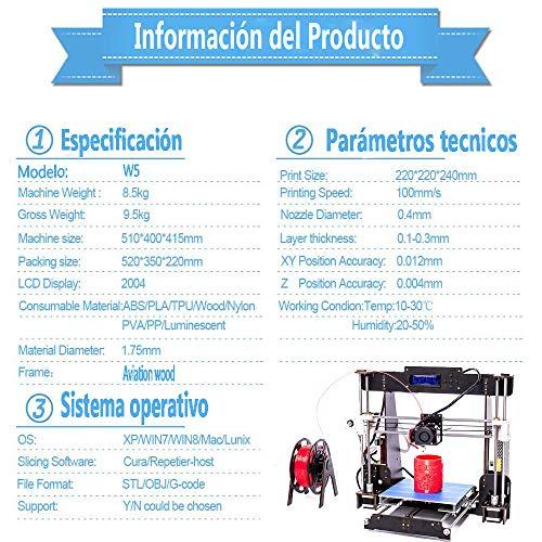 Impresora 3D, GUCOCO A8-W5 Pro Aviación Madera Pantalla LCD ...
