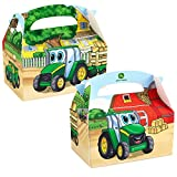 Johnny Tractor Empty Favor Boxes (4 count) Party Accessory