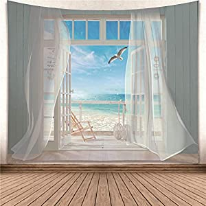 51oqq7oU7ZL._SS300_ Beach Tapestries & Coastal Tapestries