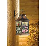 Songbird Dance Outdoor Glass Hanging Candle Lantern