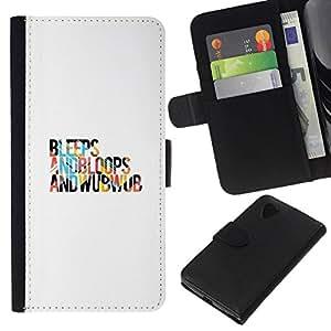 All Phone Most Case / Oferta Especial Cáscara Funda de cuero Monedero Cubierta de proteccion Caso / Wallet Case for LG Nexus 5 D820 D821 // Bleeps And Bloops
