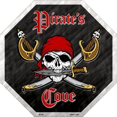 (Bargain World Pirates Cove Metal Novelty Stop Sign (Sticky Notes))
