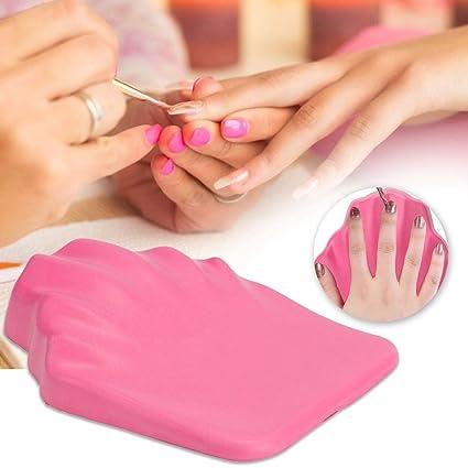 Herramienta de la manicura del cojín del tenedor de la mano ...