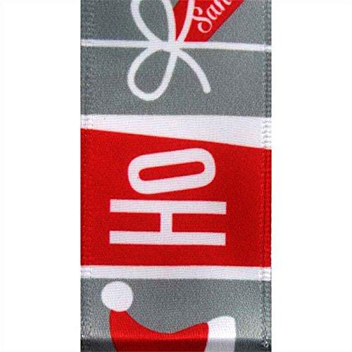 (Ho Ho Ho Santa Hat Satin Wired Ribbon 25 Yards 1.5