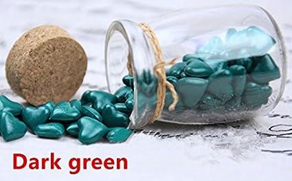 mdlg Vintage piezas Perlas de Cristal Verde Oscuro Forma De Corazón embotellada para sello invitaciones de