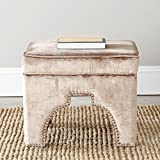 Safavieh Mercer Collection Grant Ottoman, Mink Brown For Sale