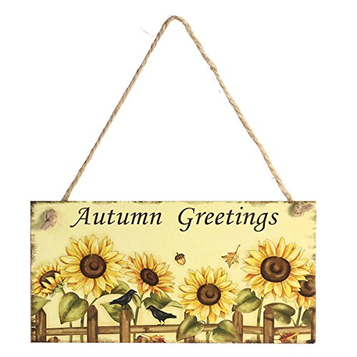 Tinksky Thanksgiving Wooden Hanging Plaque Sign Thanksgiving Door Hanger Wall Decorations Autumn Greetings