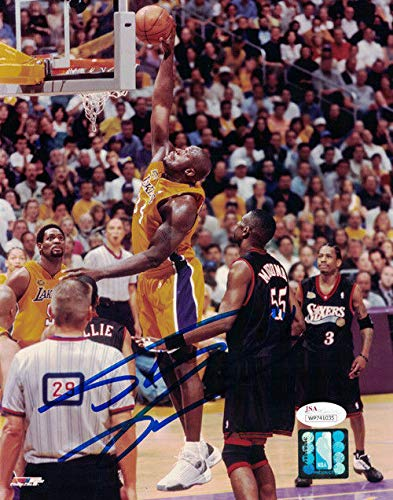 Shaquille Shaq O'Neal Autographed/Signed Los Angeles Lakers 8x10 Photo JSA