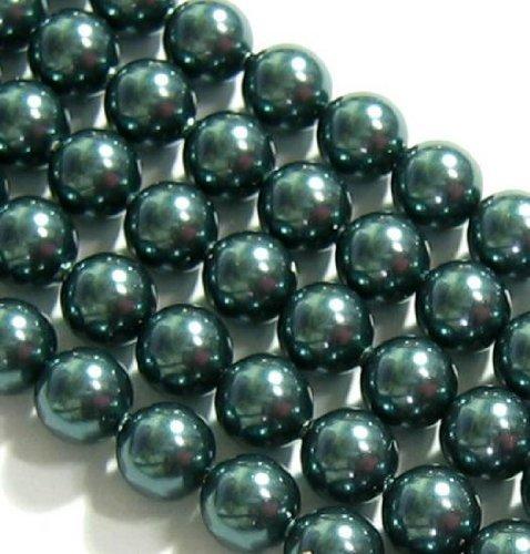 4 pcs Swarovski 5810 Round Crystal Pearls Tahitian-look 12mm / Findings / Crystallized Element