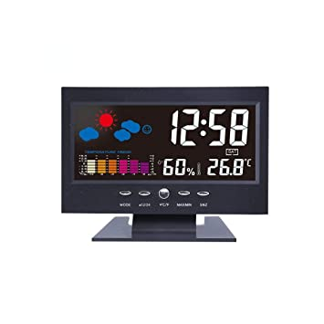 XTLINE Reloj digital ° C/° F temperatura Humedad Humedad Medidor Humedad Reloj Termómetro Higrómetro Calendario Tendencia de Temperatura: Amazon.es: Hogar