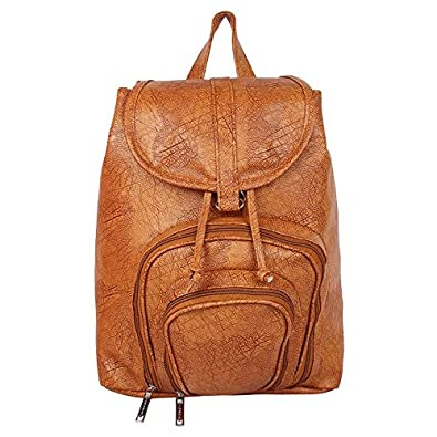 3bb51c95704 Roshiaaz Women's Synthetic Leather Backpack Bags For College Girls, Brown
