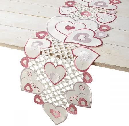 Heart Embroidery Table Runners