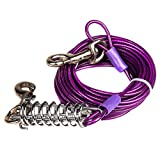 Favorite® Tie Out Cable for Dogs, 30-feet, 3 Colors (Purple)
