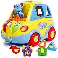 SGILE Auto-Sensing Happy Elephant Educational Musical Car Toy