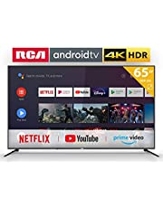 RCA RS65U2 Smart TV (65 inch 4K Android TV with Google Assistant, Google Play Store, Prime Video, Netflix) HDMI, USB, WiFi, BlueTooth, Triple Tuner (DVB-C / -T2 / -S2)