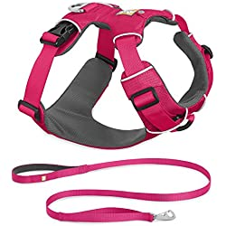 RUFFWEAR 2017 FRONT RANGE DOG HARNESS AND LEASH COMBO ♦ ALL DAY TRAINING ADJUSTABLE ADVENTURE HARNESS ♦ ALL SIZES AND COLORS (Small, Wild Berry)