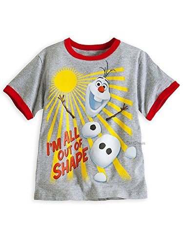 Disney Store Boys Olaf - Frozen - I'm All Out of Shape Short Sleeve T-Shirt
