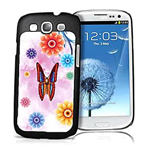 Butterfly and Flower Pattern 3D Effect Case for Samsung S3 I9300