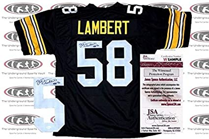 best loved 20c74 d6e61 Jack Lambert Autographed Signed Custom Pro Style Jersey ...