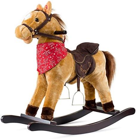 JOON Cowboy Rocking Horse – Tan Brown