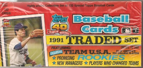Factory Topps Traded - 1991 Topps Baseball Traded Retail Factory Set
