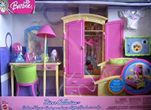 Amazon.com: Barbie Decor Collection Bedroom Playset (2003 ...
