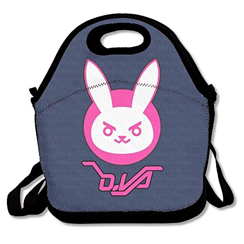 Overwatch D.Va Bunny Logo Lunch Bag Tote Handbag