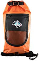 Hydrobabe Paddle Purse Waterproof Backpack for SUP, Kayak & Watersport Designed By Women for Women, Bright Papaya