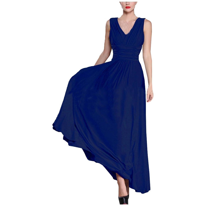 Partiss Damen Frauen Sommer Elegant Maxi Mit Traeger V-Ausschnitt Sommer Hochzeit Dress Abendkleid