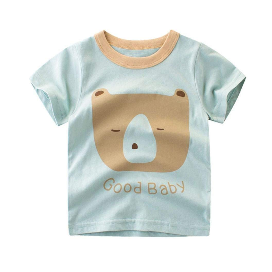Staron Baby Boys T Shirts Tops Clothes Summer Short Sleeve Cartoon Tee Outfits