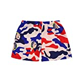 Efaster Kid Children Boys Cartoon Pattern Print Beach Swimsuit Swimwear Shorts (Khaki, 4-6 T)