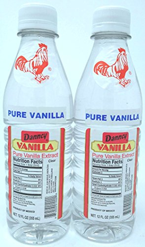 Danncy Pure Clear Mexican Vanilla Extract 12 Ounce Bottles Pack of 2 by Danncy