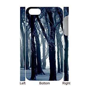 3D diy case Cold Day 2 iphone 5 5s Cases Protector for Girls, iphone 5 5s S Case [White]