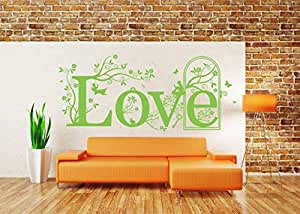 TAMOP Love Quote Vinyl Wall Art Sticker Mural Decal Home Wall Decor Living Room Bedroom Dimensions  sc 1 st  Amazon.com & Amazon.com: TAMOP Love Quote Vinyl Wall Art Sticker Mural Decal Home ...