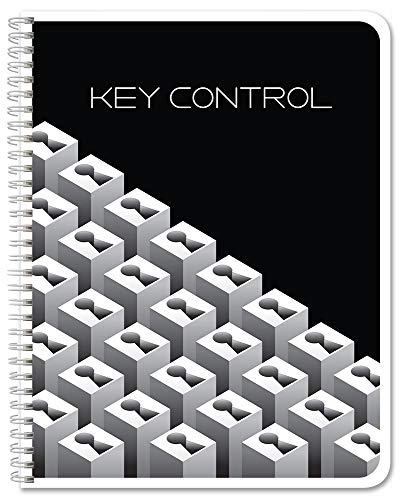BookFactory Key Control Logbook/Journal / Keys Log Book - 120 Pages, 8.5