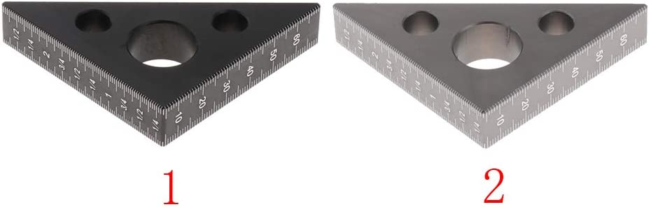 45 Degree Square Layout Gauge Measuring Tool Ruler Black SDENSHI Triangle Ruler for Woodworking