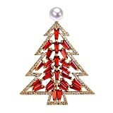 YYOGG Fashionable Christmas Crystal Tree, Freshwater Pearl Brooch, Temperament Clothing, Gift Accessories, Female X879