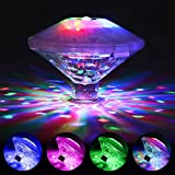 Coquimbo Swimming Pool Lights, Floating LED Pond Lights Baby Bath Tub Toys Floating Lights for Hot Tub, Fountain, Disco Pool Party or Pond Decorations (7 Modes, Battery Operated)