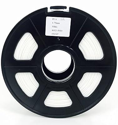 [REPRAPGURU] 1.75mm White PLA 3D Printer Filament - 1kg Spool (2.2 lbs) - Dimensional Accuracy +/- 0.05mm