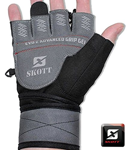 Crossfit Competition Gloves: 2016 Evo 2 Weightlifting Gloves With Integrated Wrist Wrap