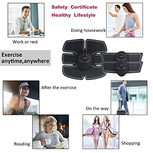 Abdominal Trainers Waist Trimmers Intelligent Fitness Exercise Set Slimming Instrument Belt 3 Host by FIINSS (Image #4)