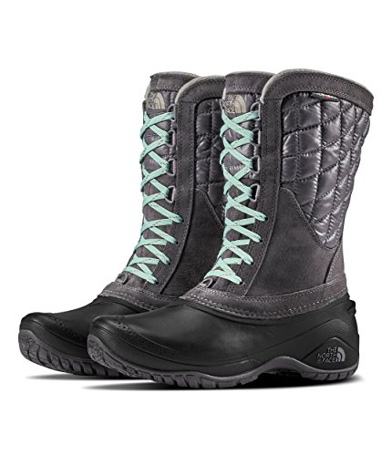 The North Face Women's Thermoball Utility Mid - Shiny Blackend Pearl & TNF Black - 7.5