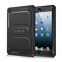 Fintie iPad mini 3/2/1 Case - CaseBot [Tuatara] [Supporting Touch ID] Rugged Unibody Hybrid Full Protective Cover with Built-in Screen Protector and Impact Resistant Bumper, Black