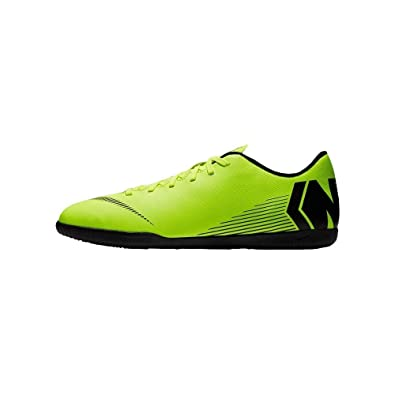 60c0c62d3ec Nike Men s VaporX 12 Club (IC) Indoor Soccer Shoe Volt Black Size 6.5