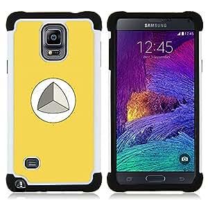 For Samsung Galaxy Note 4 SM-N910 N910 - MATHEMATICS TRIGONOMETRY YELLOW Dual Layer caso de Shell HUELGA Impacto pata de cabra con im??genes gr??ficas Steam - Funny Shop -