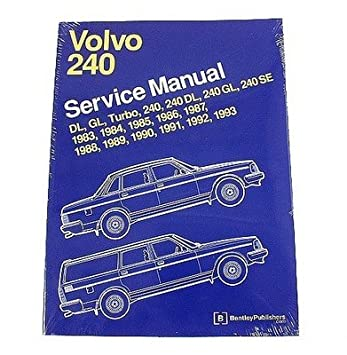 Amazon.com: Volvo 240 242 244 245 DL GL Turbo SE 1983-1993 Service Repair Manual Bentley: Automotive